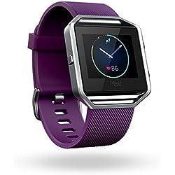 Fitbit Blaze - Reloj Inteligente para Actividad Física, Unisex, Color Ciruela, Talla L