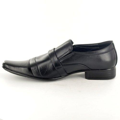 Herren-Schuhe im italienischen Stil, von Designern inspiriert, Schlupfschuhe, formell/lässig, Schuhe mit Schnallen-Detail Schwarz