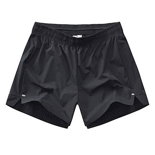 YACHAO Leichte Slim Fit Baumwoll Leinen Shorts mit Gürtel Sommer,Lose lässige Baumwollshorts 7 XL