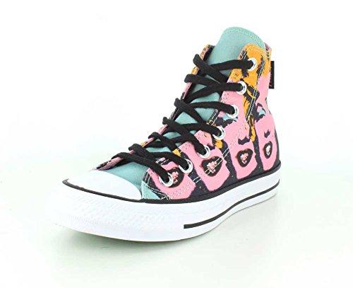 Converse unisex Chuck Taylor All Star Hi scarpa da basket Lichen/orchid Smoke/white