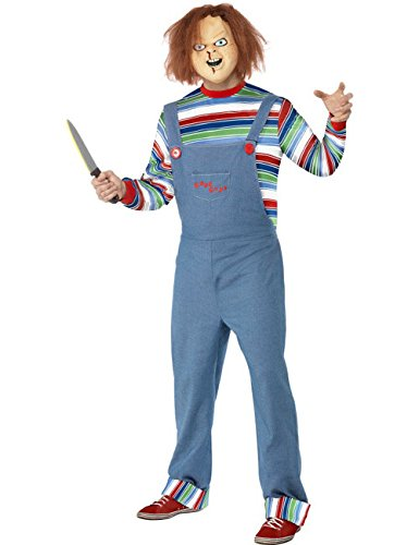 Chucky la bambola assassino halloween costume con maschera blu multicolore