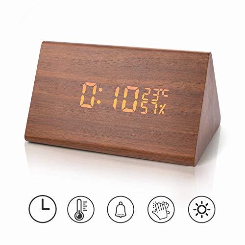 Reloj despertador Reloj digital madera Triángulo