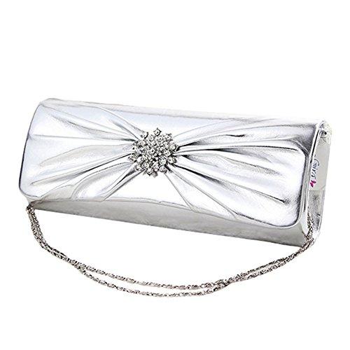 GSPStyle, Borsa a spalla donna, argento (Argento) - 005015 argento