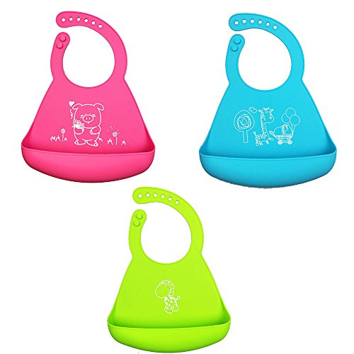 waterproof-baby-bibs-soft-silicone-easy-to-clean-keep-stains-off-bacteria-resistant-for-kids-toddler