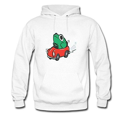 HKdiy Animals in The Car Custom Men's Printed Hoodie White-2