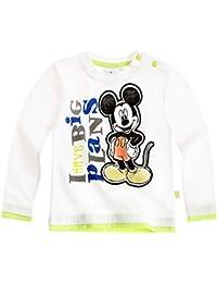 Tee Shirt Manga Larga Bebé Niño Mickey Blanco/Verde de 3a 23meses