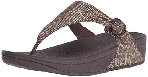 FitFlop The Skinny Lizard Print Toe-Post Sandalen - Chocolate Brown, Braun, 36 (Chocolate Brown-sandalen)