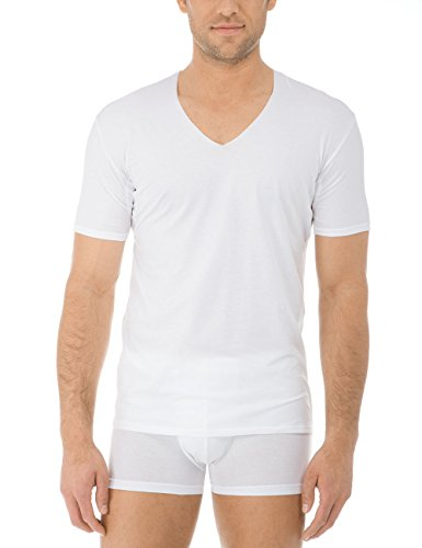 Calida Herren Fresh Cotton T-Shirt Weiß (Weiss 001)