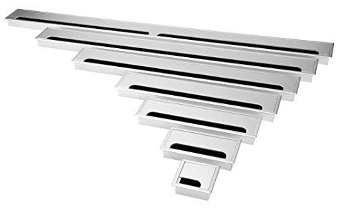 Exklusive 80mm Aluminium Kabeldurchführung silber (80mm )