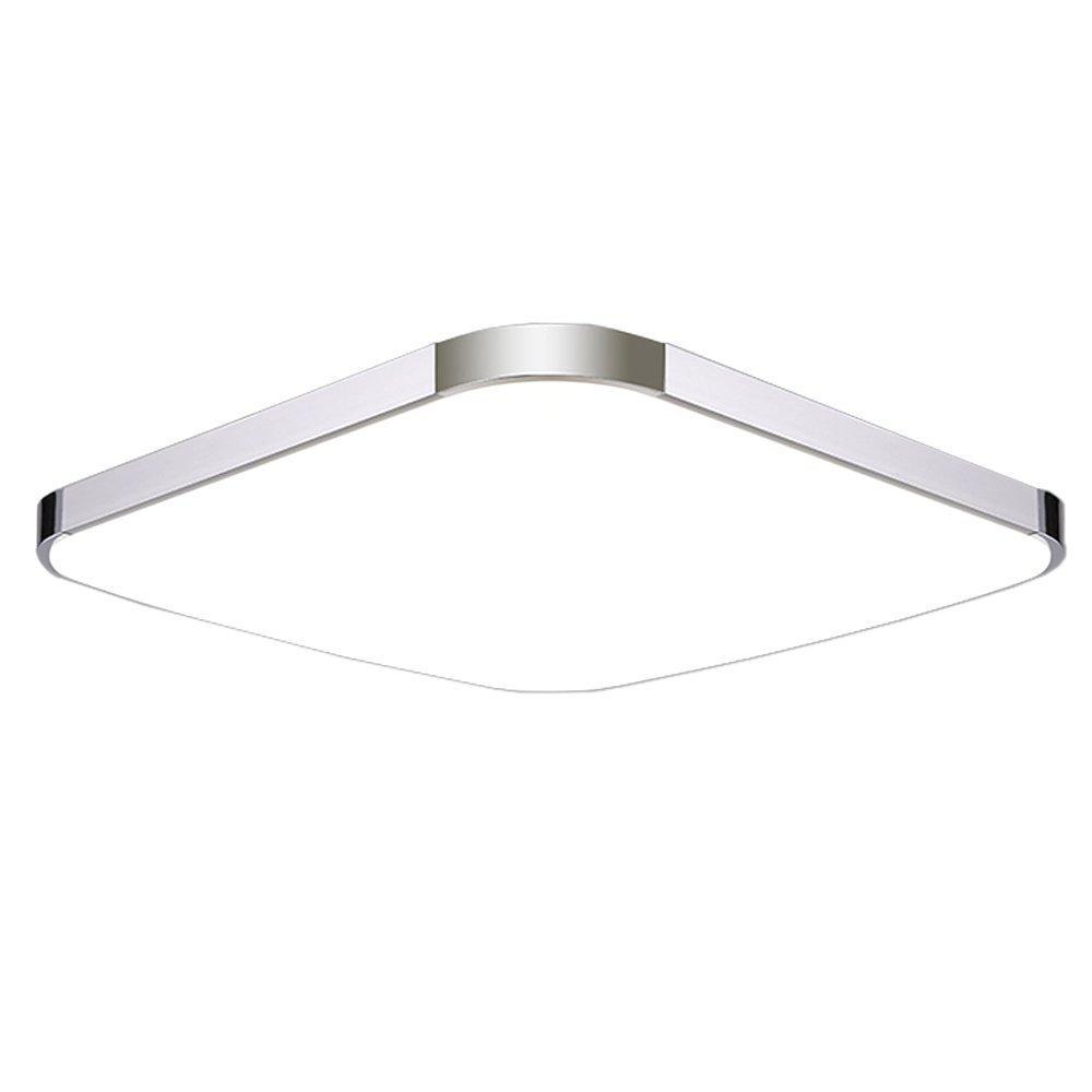 SAILUN 64W LED Deckenleuchte Ultraslim Modern Deckenlampe Flur Wohnzimmer Lampe Schlafzimmer Kuche Energie Sparen Licht Wandleuchte Farbe Silber Dimmbar