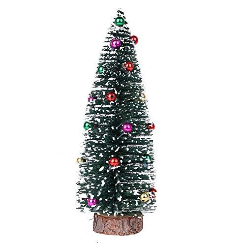 Multi Weihnachtsbaum, MuSheng Mini Rot Grün Künstlicher Christbaum Deko Weihnachtsschmuck Holzanhänger , 30 cm/ 25 cm/ 20 cm/ 15 cm (Grün, 15 cm)