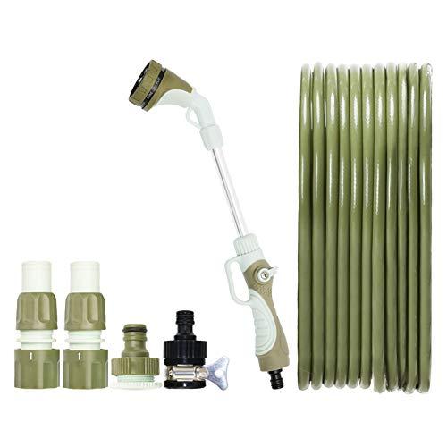 Gartenschlauch Spritzpistole Spritzdüse Wasserschlauch mit langem, verbogenem Pol Reinigungswerkzeug Garten HUYP (Size : 25m Suit) -