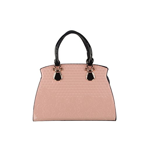 Emotionlin Totes Pelle Vintage Modo Delle Signore Borsa Quadrato Delle Donne(Rose) Pink