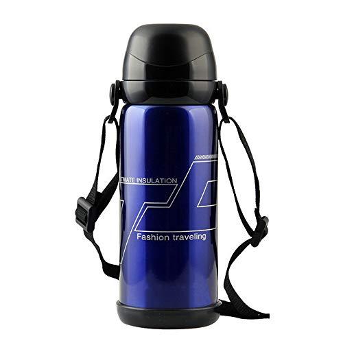 Vakuum Becher Sports Bottle 800Ml Leak-Proof Doppel Edelstahl Custom Outdoor Travel Multi-Function Portable Creative Gift Cup geeignet für Running Outdoor Hiking GyCamping m