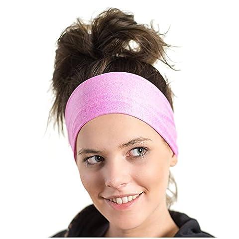 Bandeau de sport léger – bandeau d'évacuation d'humidité - Idéal pour le jogging, le vélo et entraînements athlétiques - Conçu pour les femmes, emprunté par les hommes