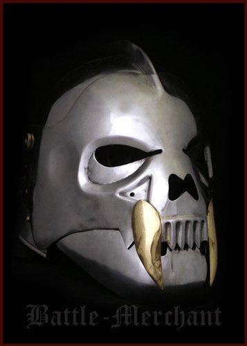 Battle-Merchant Orkmasken Helm aus Stahl - Mittelalter - LARP - Ork -
