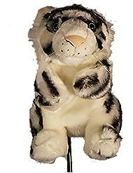 essepiemme Golf–coprilegno forme de tigre blanc en polyester, flax, selon norme CE