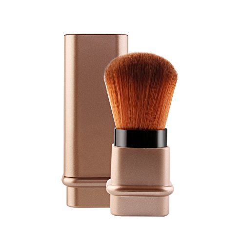 Makeup Retractable Kabuki Powder Brush - ROMANTICBEAR Portable Face Loose Powder Foundation, Blush Brush Beauty Cosmetic Tool for Professional and Travel