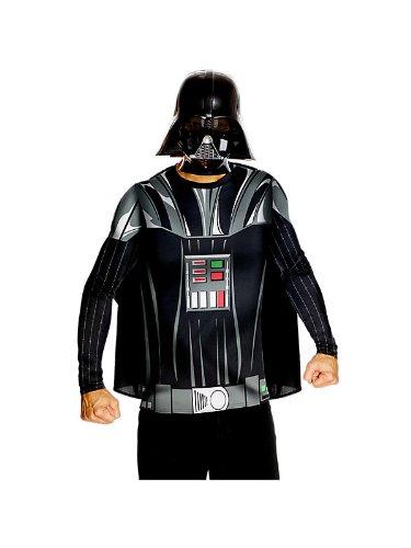 Darth Vader Kostüm und Maske - XL - 1,80m bis (Homme Halloween Kostüm)