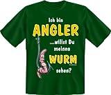 "Fun-T Shirts "" Angler-Wurm !!! "" Größen S - XXL XXL -"