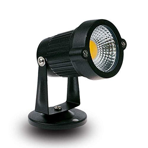 LED-Strahler für den Außenbereich, 3 W, 5 W, für Terrassen, Terrassen, runde Gartenschussbaum, begrabene Lichter, wasserdicht IP65 Warm Light-3w