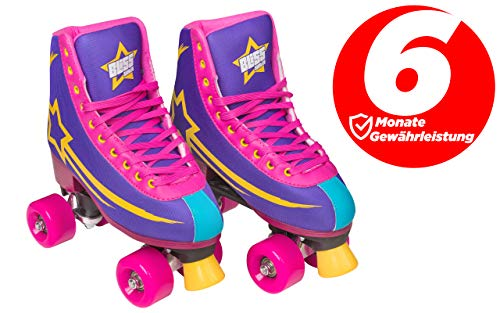 Bliss Rollerskates Mädchen Rollschuhe Damen - Indoor Outdoor Roller skates Größe 33-40 Rollschuh Rockstar Edition (32)