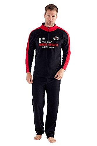 Harvey James Herren Schlafanzug Ocean Spirit - Black/Red
