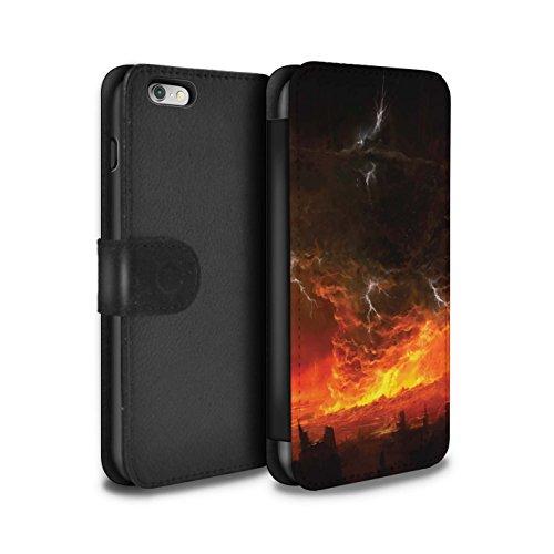 Offiziell Chris Cold PU-Leder Hülle/Case/Tasche/Cover für Apple iPhone 6+/Plus 5.5 / Schiffswrack Muster / Gefallene Erde Kollektion Apokalypse