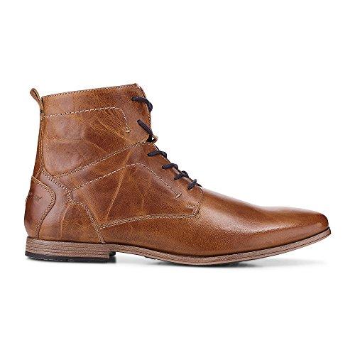 Cox Herren Schnür-Boots Aus Leder, Brauner Freizeit Stiefel mit Robuster Laufsohle Braun Leder 45 (Leder Glatt Stiefel Herren)