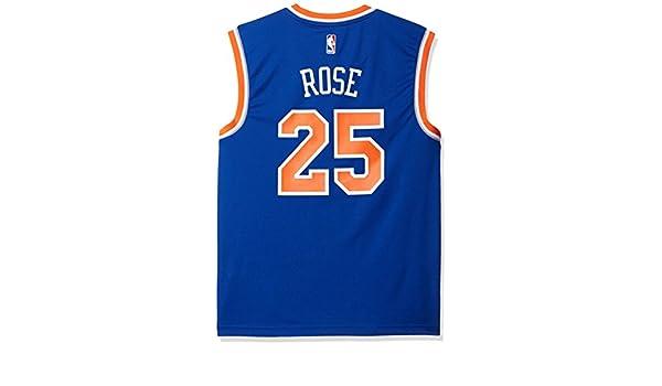 b0d63bb737b NBA Men s York Knicks Derrick Rose Replica Player Stretch Jersey