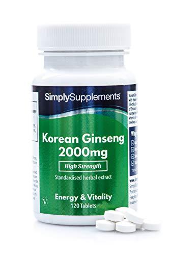 Koreanischer Ginseng 2000mg - Geeignet für Veganer - 120 Tabletten - SimplySupplements