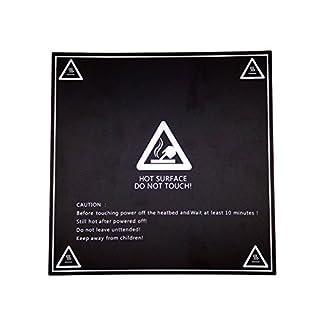 AptoFun 3D Druckbett Folie, 3D Heizbett Folie Druckplattform (213 x 213 mm) für 3D Drucker Heizbett, Mk3 Druckbett