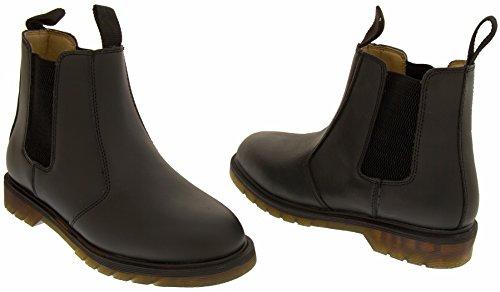 Northwest Territory Traction en cuir sur Chelsea bottines Hommes Noir