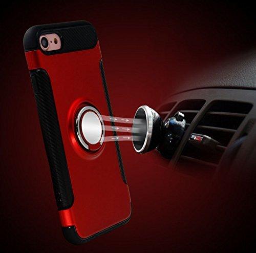Coque iPhone 6 Plus 6s Plus,Case Ultra Mince Protection-Bague Ring Stand Holder-360 degrés sur la béquille ,Hybride Anti-scratch Housse Etui, - MMY Housse Etui Coque Pour iPhone 6 Plus 6s Plus-Argent 2