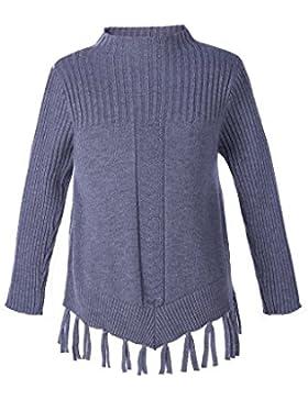 Pettigirl Niñas Largo Manga Botón Sólido Cuello redondo Cárdigan Suéter