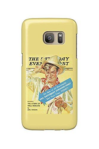 The Saturday Evening Post Vintage Poster (artist: Leyendecker, Joseph C.) USA c. 1940 (Galaxy S7 Cell Phone Case, Slim Barely There) - Saturday Evening Post