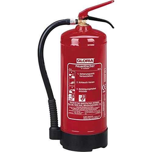 GLORIA 282915 Schaumlöscher SD6, Stahlblech lackiert Löschmenge 9L Brandklasse A,B, Rot