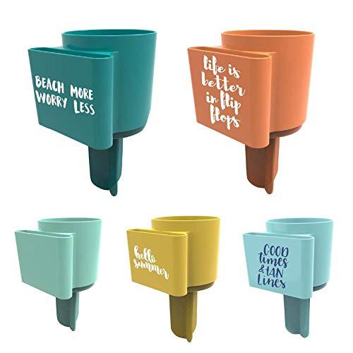 Wapern Multifunktionaler Beach Cup Holder, für Getränke-Handy Beach Cup Holder mit Tasche -