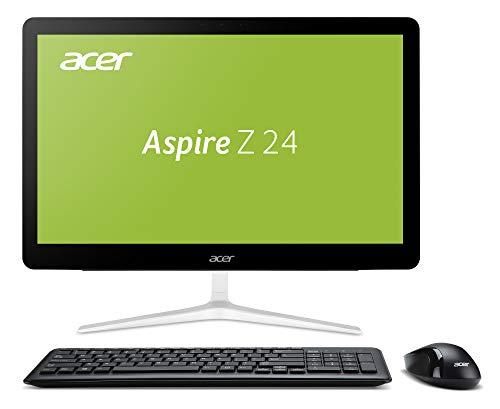 Aspire Z24-880 60,5 cm (23,8 Zoll Full-HD) All-In-One Desktop-PC (Intel Core i5-7400T, 8GB DDR4 RAM, 128GB SSD, 1000GB HDD, Intel HD) schwarz/weiß