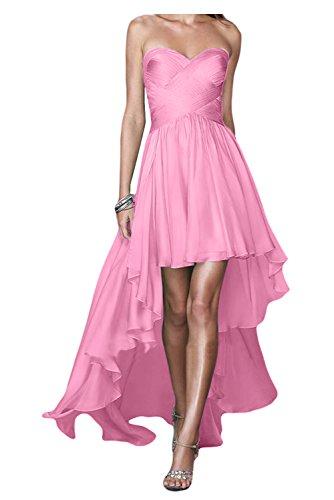 Gorgeous Bride Fashion Traegerlos HiLo Chiffon Lang Abendkleider ...