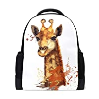 Cartoon Animal Giraffe Cute Backpack Casual Daypack Rucksack School Bags for Student Girls Boys