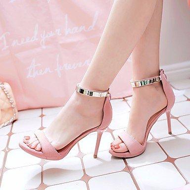 RUGAI-UE Estate Moda Donna Sandali Casual PU scarpe tacchi comfort,Black,US7.5 / EU38 / UK5.5 / CN38 Blushing Pink
