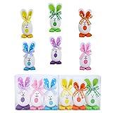 Ulikey 6 Pezzi Ornamenti di Uova di Pasqua, Coniglietto Carino Appeso Giocattolo Fai da Te Carino Simulazione Giocattolo Regali per Decorazione della