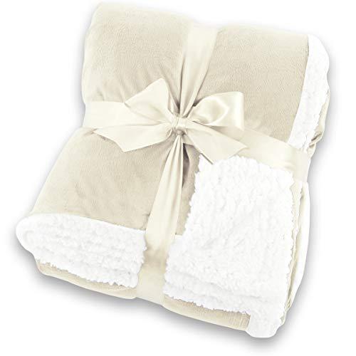 Coperta in pelle di agnello gräfenstayn® - varie misure e colori - copriletto in morbida coperta - pile in microfibra di flanella - con certificazione oeko-tex standard 100: