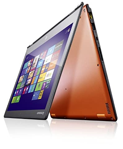 Lenovo Yoga 2 Pro 33,8 cm (13,3 Zoll QHD IPS) Convertible Ultrabook (Intel Core i5 4200U, 2,6GHz, 8GB RAM, 256GB SSD, Touchscreen, Win 8.1) clementine