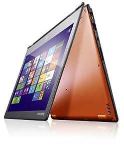 Lenovo Yoga 2 Pro 33,8 cm (13,3 Zoll QHD IPS) Convertible Ultrabook (Intel Core i5 4200U, 2,6GHz, 8GB RAM, 256GB SSD, Touchscreen, Win 8.1) clementine orange