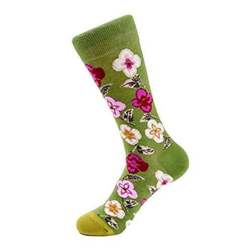 YWLINK StraßE Unisex Baumwolle Bunt Mid Tube Socken Freizeit Niedliche Geometrie Pflanze Tiersocken Mode Bunt Herren Frauen Socken uen Socken