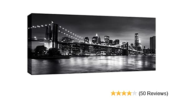 X LARGE CITY SCENE CITYSCAPE CANVAS ART 3 SET 42x20/""