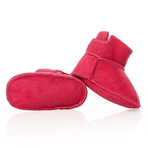 Premium smileBaby Lammfellschuhe Babyschuhe- Gr. 21 EU / Medium, Pink