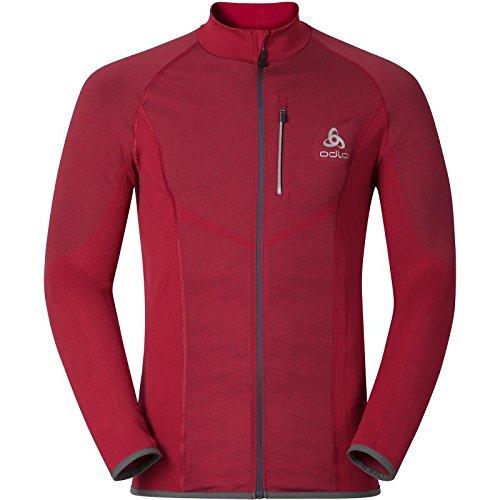 Odlo Velocity Midlayer Full Zip Jacket - jester red